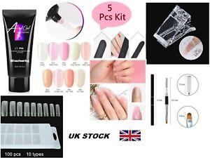 Poly gel Nail Kit DIY 05 PCS SET Poly Builder Acrylic Art UV Lamp Glue Extension