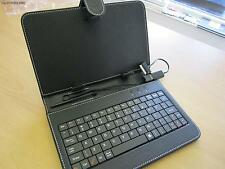 """Black 7"""" Keyboard PU Leather Case/Stand for Samsung Galaxy Tab 7 7 inch Tablet"""