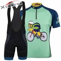 SIMPSONS CARTOON HOMER RETRO Cycling BIKE Jersey Tricot Maillot Bib Kit Set