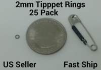 25 Premium Anti-Glare 2mm Fly Leader Tippet Rings Dry/Wet/Nymph Rig +FREE SHIP