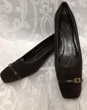 Kate Spade Brown Kitten Heel Pumps Sz.6.5M Womens Shoes Slip On Heels