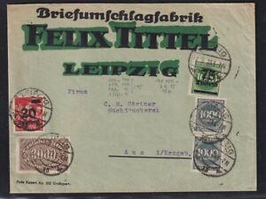 DR. Reklame-Brief,  Briefumschlagfabrik Felix Tittel Leipzig
