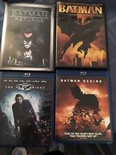 4 Batman films: 1943 Serial; Batman Begins; Batman Returns; The Dark Knight