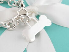 eaccbd2e4 Auth Tiffany & Co Silver Dog Bone Charm Bracelet