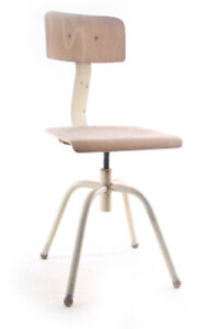 Alter Chair Old Vintage Swivel Chair Work Chair Workshop Metal Wood Architect