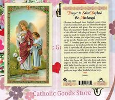 Prayer to St. Saint  Raphael the Archangel - Laminated Holy Card