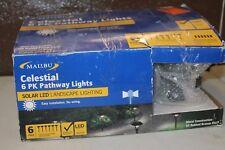 Malibu Celestial 6 Pack Solar LED Pathway Lights Landscape Lighting.
