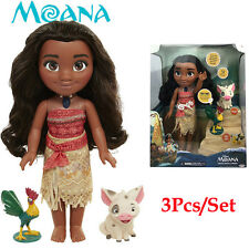 Sale! Singing Moana & Friends Action Figures Doll Light & Movie Song Kids Toy AU