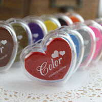 Heart Shape Oil Based Ink Pads Rubber Stamping Fabric Wood Paper Embossing Craft