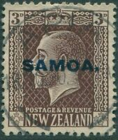 Samoa 1916 SG138 3d chocolate KGV FU