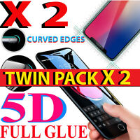 2 X FOR APPLE iPHONE 7 PLUS FULL ANTI-SCRATCH 5D TEMPERED GLASS SCREEN PROTECTOR