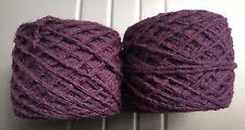 Mystery Yarn Reclaimed Yarn 4.25oz Plum, Maybe Angora? Dk?