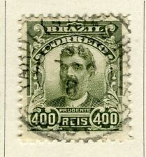 BRAZIL; 1906 early Portraits issue fine used 400r. value