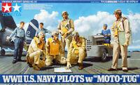 Tamiya 61107 WWII US Navy Pilots with Moto Tug 1/48 Scale Kit