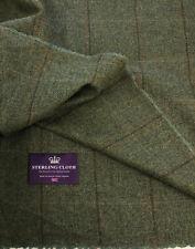 Pure new wool Tweed fabric Made in Scotland Window pane Jacket suit skirt coat
