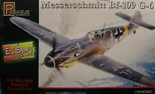 WWII GERMAN MESSERSCHMITT BF109G 1:48 SCALE PEGASUS PLASTIC MODEL EZ SNAP KIT