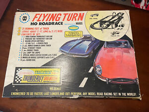 Stirling Moss Vintage Aurora Model Motoring Flying Turn HO Race Track Set
