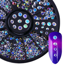 Clear Colorful Rhinestone Crystal Multi-size Nail Art Decoration in Wheel