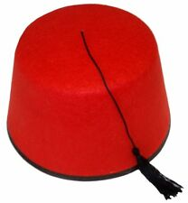 Felt Black Red Who Doctor Fez Hat Shriner Turkish Moroccan Cap Costume Accessory