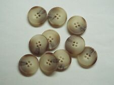 8pc 20mm Light Brown Beige Mock Horn Shirt Suit Cardigan Knitwear Button 3952