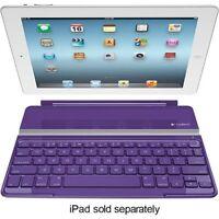 Logitech Ultrathin Protective Keyboard Cover for Apple iPad 2 3 4 - Purple