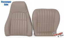 97-02 Chevy Camaro V8 V6 -PASSENGER Bottom & Lean Back Leather Seat Covers Tan