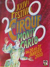 Affiche cirque / 24ème Festival international du cirque /  MONTE-CARLO 2000