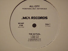 "ALL CITY - THE ACTUAL / PRICELESS (12"") 1998!!  RARE!!  DJ PREMIER + PETE ROCK!!"