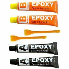 2 PACK EPOXY GLUE SUPER STRONG RESIN & HARDENER MULTI-PURPOSE HOLD IN 5 MINUITES