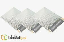"100 Metallic Glamour Bubble Mailers 9"" x 11.5"" Padded Envelope Silver Bags"