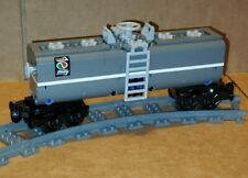 "NEW LEGO TRAIN DARK GRAY CUSTOM TANKER CAR 9"" inches long MOC/RC/9V/CITY/TOWN"