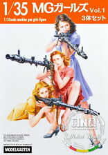 ModelKasten F-3 1/35 Machine Gun Girls (3 Figures)