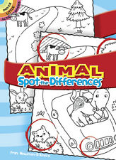 Dover Animal Spot-The-Difference Book / mini book Free Us Shipping