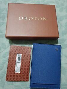 OROTON SALISBURY CC SLEEVE NAV/HOKBLU Mens C/Card PERFECT FOR FATHER'S DAY GIFT