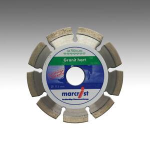 Marcrist 115mm x 22,23mm Diamant-Trennscheibe Granit hart KS Kalksandstein hart