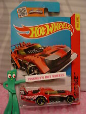 Case G 2015 i Hot Wheels TWO TIMER #177☆Red /Yellow/Black☆HW Race☆Track Aces