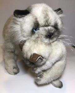 "Vtg 1983 Avanti Himalayan Cat & Kitten Plush 24"" StuffedAnimal Wallace Berrie"