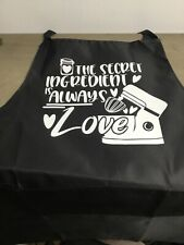 Black polyester apron with sayings, can be personalised to your own design