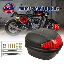 35L Motorcycle Top Box Rear Storage Luggage Scooter Tail Box Universal Case O