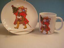 SANTA - FATHER CHRISTMAS MUG - CUP AND PLATE, 1986 DAYTON'S