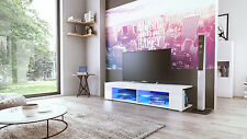 "White High Gloss Modern TV Stand Unit Media Entertainment Center ""Movie"""