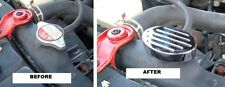 1992-2000 Honda Civic Chromed Aluminum Water Radiator Cap Cover Overlay Billet