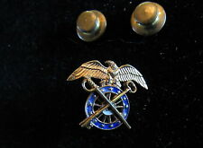 ~ US WWII Vintage Sterling US ARMY QUARTERMASTER Sterling PIN EXCELLENT CONDITON