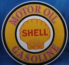 VINTAGE STYLE SHELL GAS MOTOR OIL GASOLINE METAL TIN SIGN MADE IN THE USA NEW