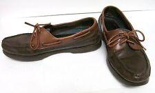 LANDROVER THOM MCCANN DECK BOAT Shoes Moccasins Brown Saddle MEN'S 9.5
