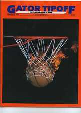 1986 Florida Gators vs Alabama Basketball program MBX14