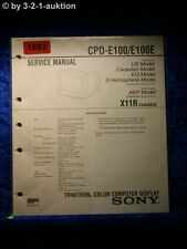 Sony Service Manual CPD E100 / E100E Color Computer Display (#1882)