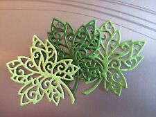 "6 LEAVES, DIE CUTS, EMBELLISHMENTS. 1 3/4"" x 2"" FILIGREED LEAVES #3. CARDS"