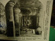 Stereoview Stereoscope Card Eight-Armed Divinity Elephanta, India Reprint 1978
