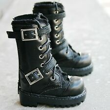 [wamami] 18# 1/3 Black Leather Boots Shoes For BJD Doll Dollfie Outfits